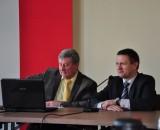 """Burmistrz Marcin Pluta i Prezes Spółdzielni Socjalnej """"Communal Service"""" Ryszard Śliwkiewicz"""